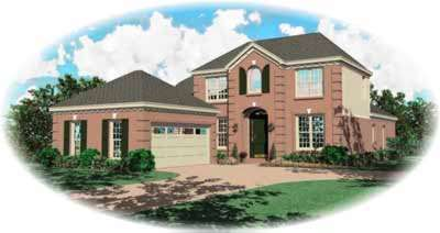 Southern-colonial Style Floor Plans Plan: 6-542
