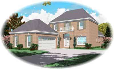 Southern Style Home Design Plan: 6-543