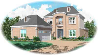 French-country Style Floor Plans Plan: 6-547