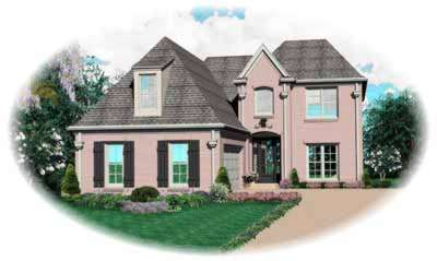 Traditional Style Home Design Plan: 6-548