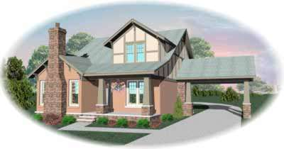 Craftsman Style Home Design Plan: 6-551