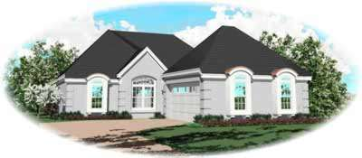 Mediterranean Style House Plans Plan: 6-553
