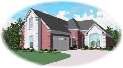 European Style Home Design Plan: 6-559