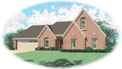 European Style Home Design Plan: 6-568