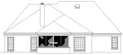 Rear Elevation Plan: 6-596