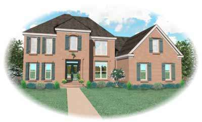 Traditional Style Home Design Plan: 6-614