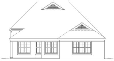 Rear Elevation Plan: 6-634
