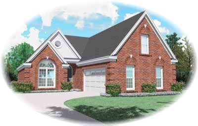 Traditional Style Home Design Plan: 6-637