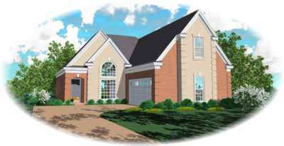 European Style Home Design Plan: 6-638