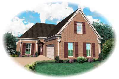 Traditional Style Home Design Plan: 6-640