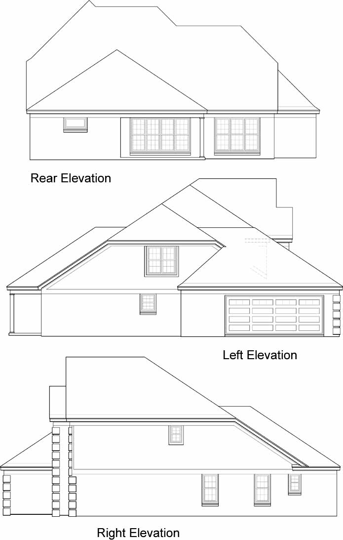 Rear Elevation Plan: 6-644