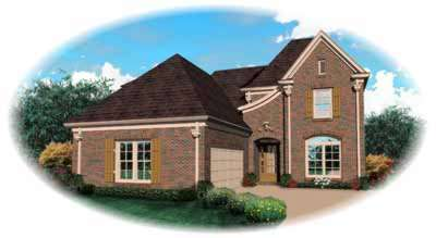 French-country Style Floor Plans Plan: 6-649