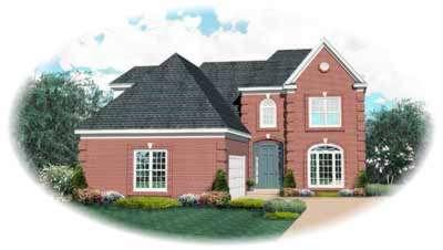 European Style Home Design Plan: 6-650