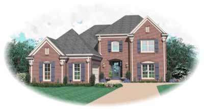 Traditional Style Home Design Plan: 6-651