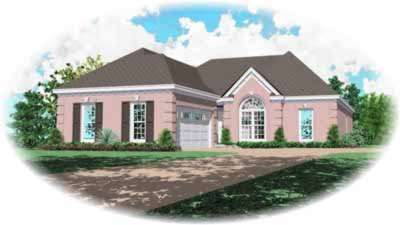 Traditional Style Home Design Plan: 6-653
