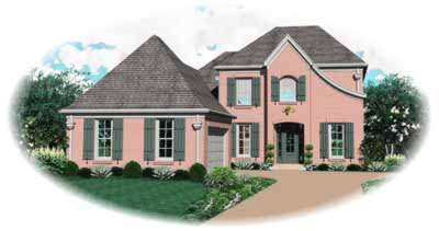 French-country Style Floor Plans Plan: 6-654