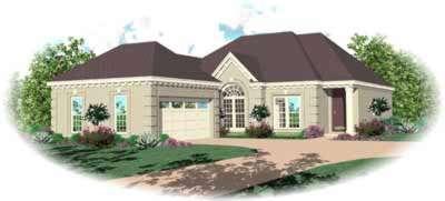 European Style House Plans Plan: 6-665