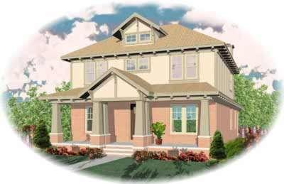 Craftsman Style Home Design Plan: 6-666