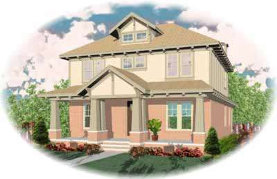 Craftsman Style Home Design Plan: 6-671