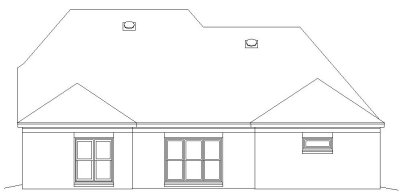 Rear Elevation Plan: 6-681