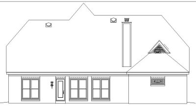 Rear Elevation Plan: 6-685