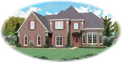 Traditional Style Home Design Plan: 6-686
