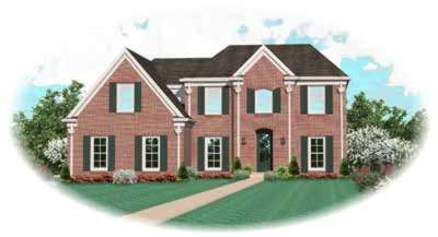 Southern-colonial Style Floor Plans Plan: 6-691