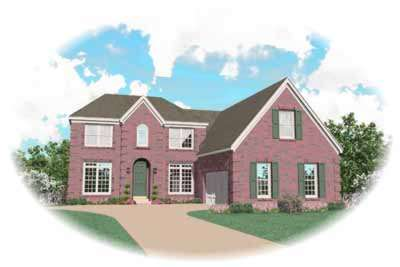 Traditional Style Home Design Plan: 6-696