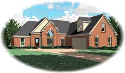 Traditional Style Home Design Plan: 6-709