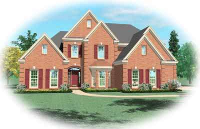 Traditional Style Home Design Plan: 6-719