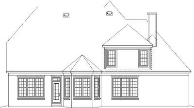 Rear Elevation Plan: 6-720