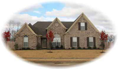 Traditional Style Home Design Plan: 6-727