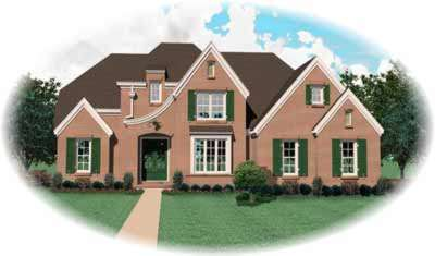 French-country Style House Plans Plan: 6-741