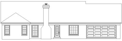 Rear Elevation Plan: 6-748