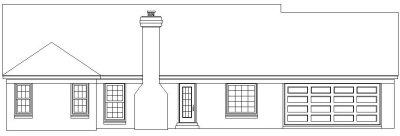 Rear Elevation Plan: 6-748