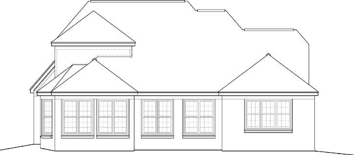 Rear Elevation Plan: 6-753