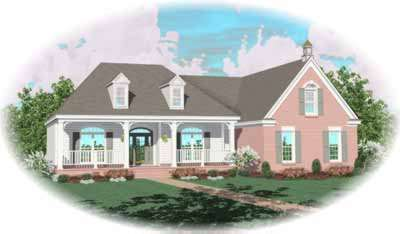 Southern Style Home Design Plan: 6-765