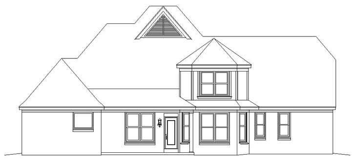 Rear Elevation Plan: 6-776