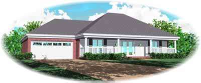 Country Style Home Design Plan: 6-795