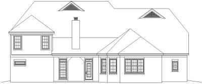 Rear Elevation Plan: 6-799