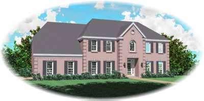 European Style Home Design Plan: 6-800