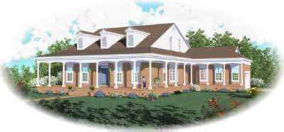 Southern Style Home Design Plan: 6-805