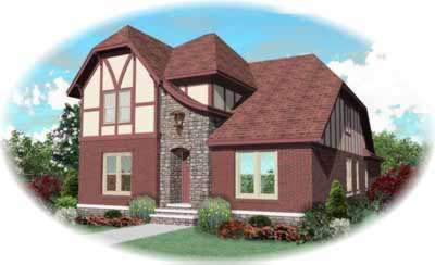 English-country Style House Plans Plan: 6-806