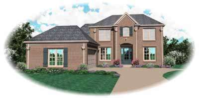 Traditional Style Home Design Plan: 6-808