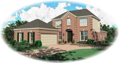 European Style House Plans Plan: 6-809