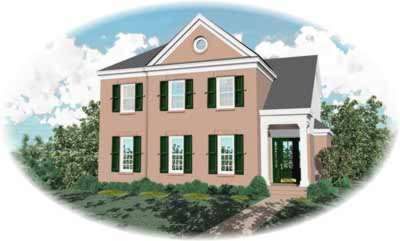 Southern-colonial Style Home Design Plan: 6-815