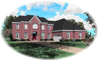 European Style House Plans Plan: 6-816