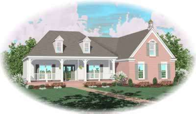 Country Style Floor Plans Plan: 6-821