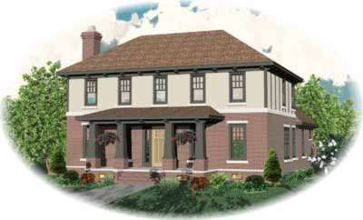 Early-american Style Home Design Plan: 6-824
