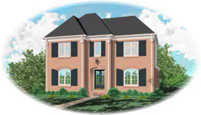 Southern-colonial Style Home Design Plan: 6-825